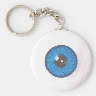 Llavero azul espeluznante del globo del ojo