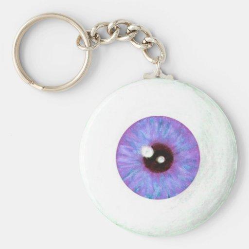 Llavero azul espeluznante del globo del ojo de Lav