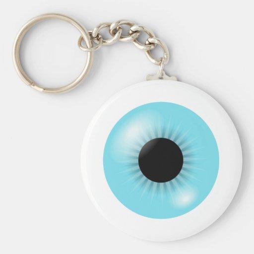 Llavero azul grande del globo del ojo