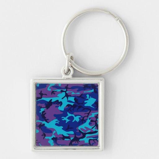Llavero azul marino y púrpura del premio del camuf