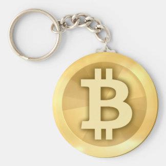 Llavero básico del botón de Bitcoin
