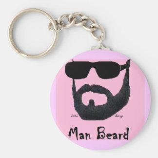 Llavero básico del botón de la barba del hombre