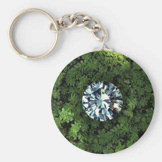 Llavero básico del botón del diamante en bruto