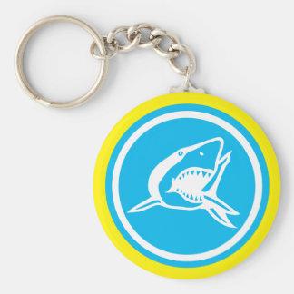 Llavero básico del botón del tiburón
