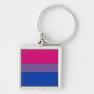 Llavero bisexual de la bandera del orgullo