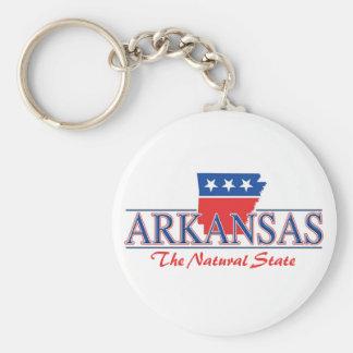 Llavero blanco de Arkansas y azul rojo