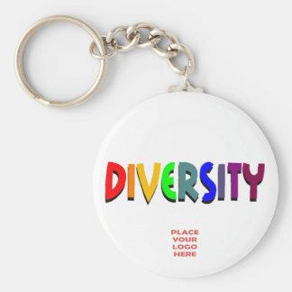 Llavero blanco de encargo de la diversidad