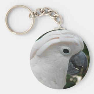 Llavero blanco del Cockatoo