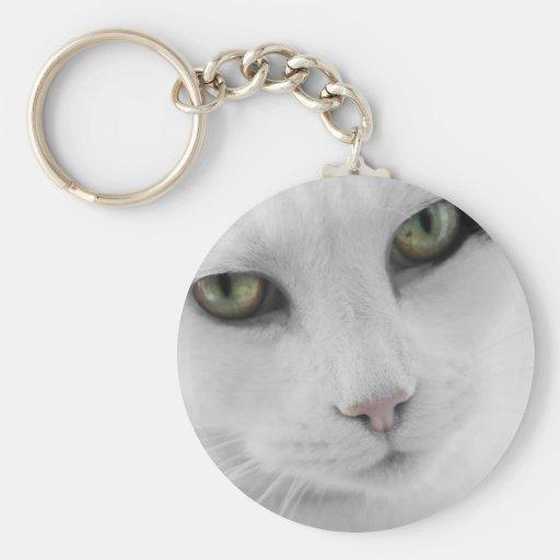 Llavero blanco del gato