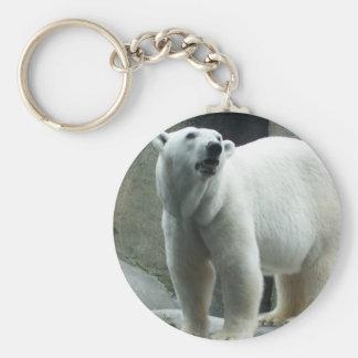 Llavero blanco del oso polar