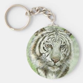Llavero blanco del tigre