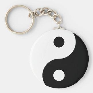 Llavero blanco y negro de Yin Yang