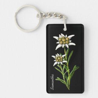 Llavero bonito del personalizado de la flor de