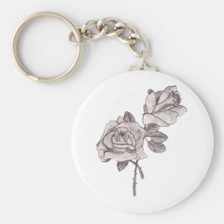 Llavero bosquejado de los rosas