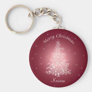 Llavero brillante del árbol de navidad