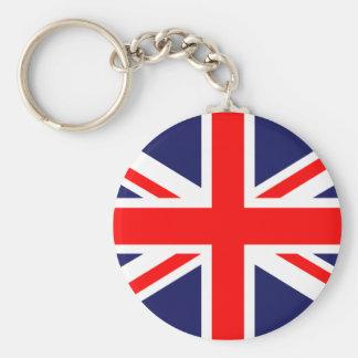 Llavero británico de Union Jack de la bandera
