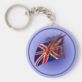 """Llavero británico del león de la bandera """"n"""""""