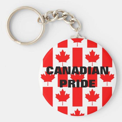 Llavero canadiense de la bandera del modelo del or