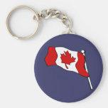 Llavero canadiense de la bandera que agita