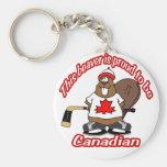 Llavero canadiense del castor