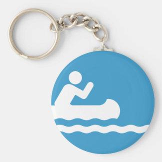 Llavero Canoeing del símbolo