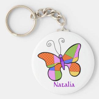 Llavero caprichoso de la mariposa del cubismo