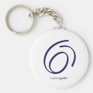 Llavero cariñoso púrpura del símbolo de SymTell