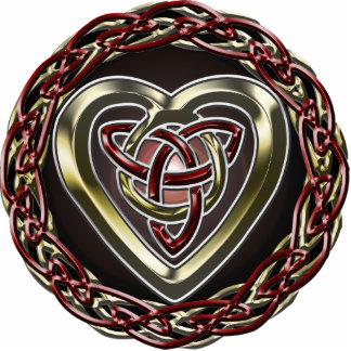 Llavero céltico del corazón esculturas fotográficas
