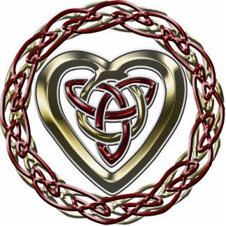 Llavero céltico del corazón escultura fotografica