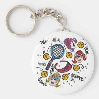 Llavero - chicas del tenis