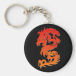 Llavero chino anaranjado del dragón