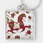 Llavero chino de la astrología del caballo