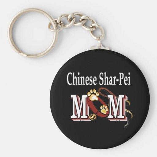llavero chino de la mamá del shar-pei