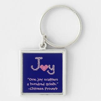 Llavero chino del proverbio de la alegría