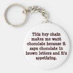 Llavero chistoso del amante del chocolate