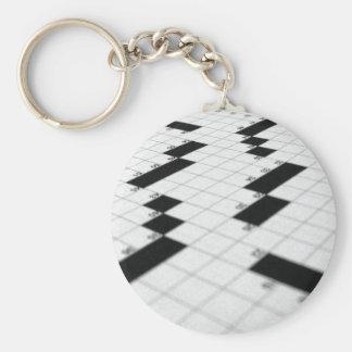 Llavero clásico de la rejilla del crucigrama