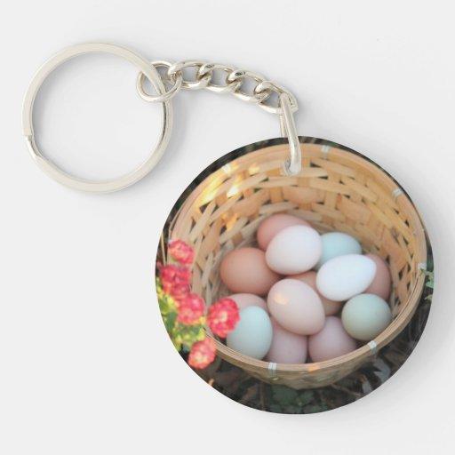 Llavero clasificado de los huevos