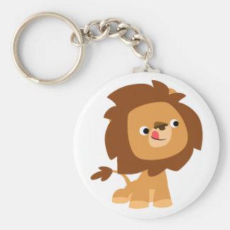 Llavero codicioso lindo del león del dibujo