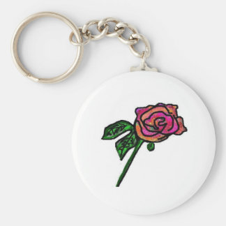 Llavero color de rosa