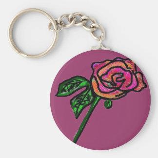 Llavero color de rosa de color de malva