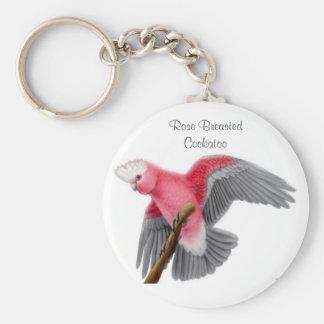 Llavero color de rosa del Cockatoo de Breasted