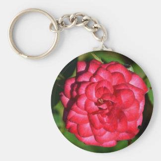Llavero color de rosa miniatura rojo