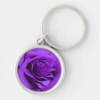 Llavero color de rosa púrpura