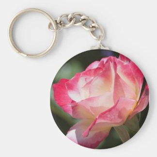 Llavero color de rosa rosado y poner crema