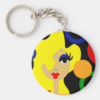 Llavero colorido de la diva del arte pop