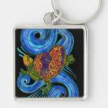 Llavero colorido de la tortuga de mar