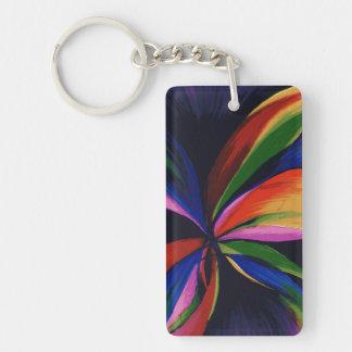 Llavero colorido del acrílico del arte abstracto