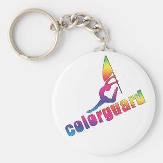 Llavero colorido del colorguard