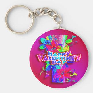 Llavero colorido del el día de San Valentín