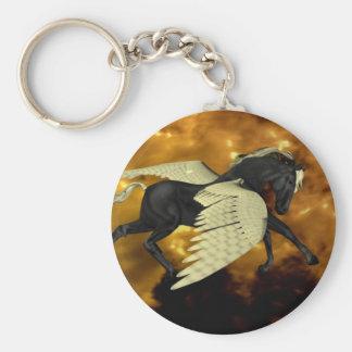 Llavero con alas de oro de Pegaso